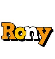 Rony cartoon logo