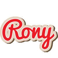 Rony chocolate logo