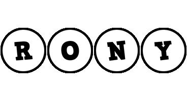 Rony handy logo