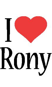 Rony i-love logo