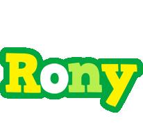 Rony soccer logo