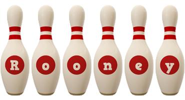 Rooney bowling-pin logo