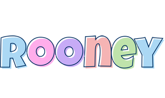 Rooney pastel logo