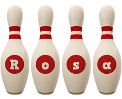 Rosa bowling-pin logo