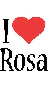 Rosa i-love logo