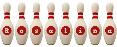 Rosalina bowling-pin logo