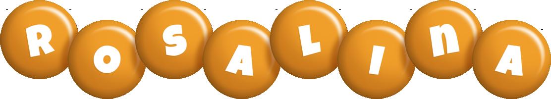 Rosalina candy-orange logo