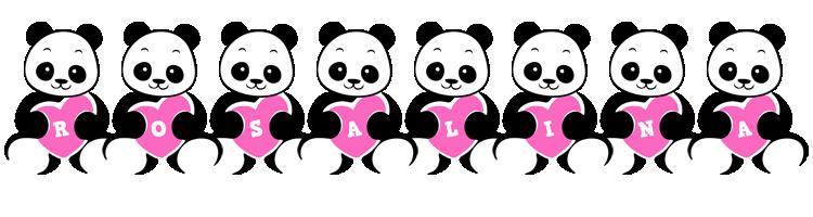 Rosalina love-panda logo
