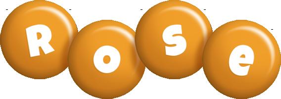 Rose candy-orange logo