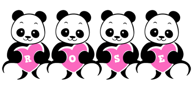 Rose love-panda logo