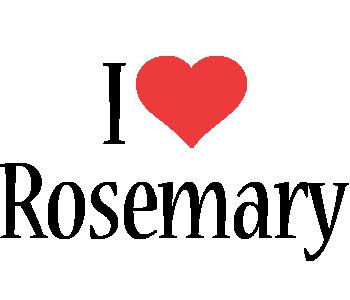 Rosemary i-love logo