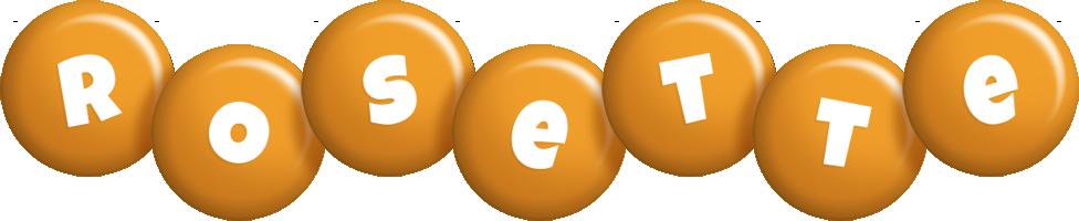 Rosette candy-orange logo