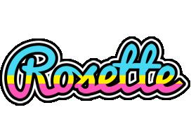 Rosette circus logo