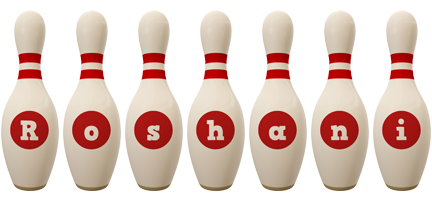 Roshani bowling-pin logo