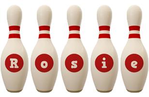Rosie bowling-pin logo