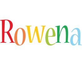 Rowena birthday logo