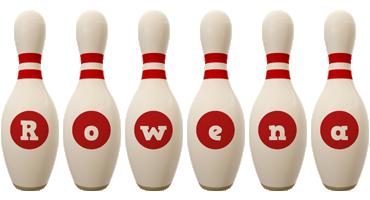 Rowena bowling-pin logo