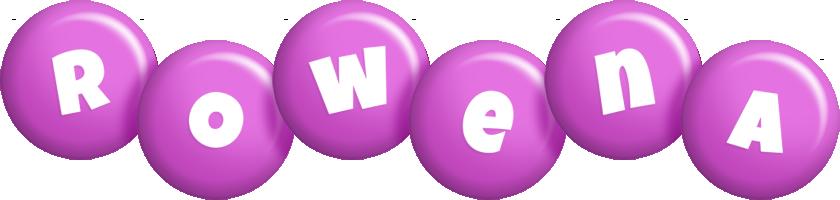 Rowena candy-purple logo