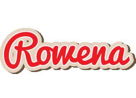 Rowena chocolate logo