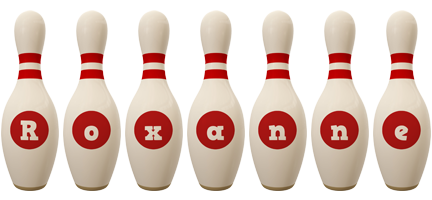 Roxanne bowling-pin logo