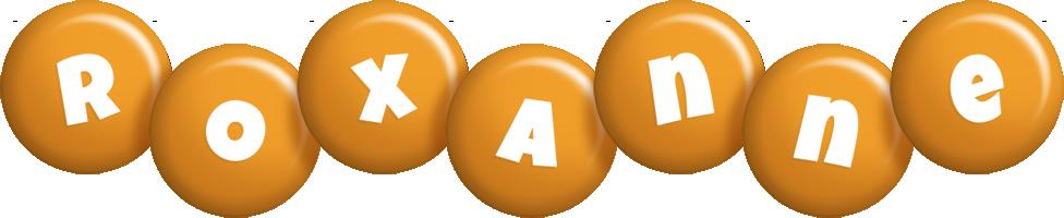 Roxanne candy-orange logo
