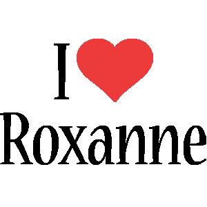 Roxanne i-love logo