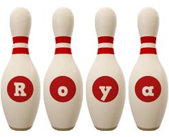 Roya bowling-pin logo