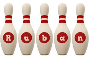 Ruban bowling-pin logo