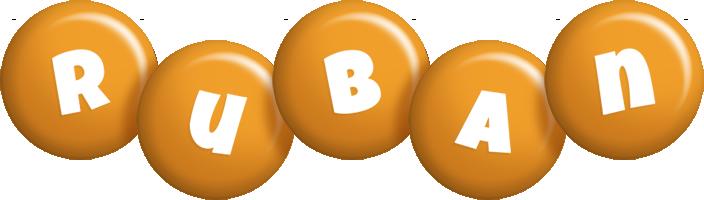 Ruban candy-orange logo