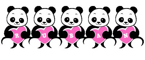 Ruban love-panda logo