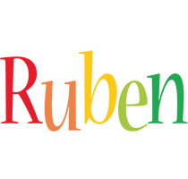 Ruben birthday logo
