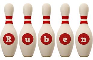 Ruben bowling-pin logo