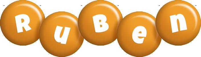 Ruben candy-orange logo
