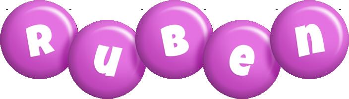 Ruben candy-purple logo