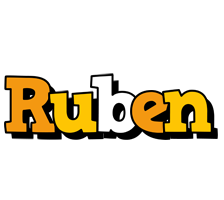 Ruben cartoon logo