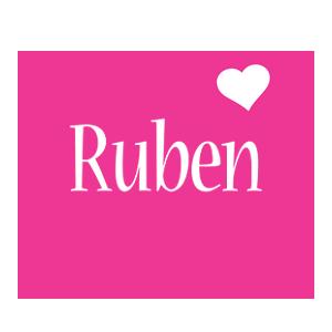 Ruben love-heart logo