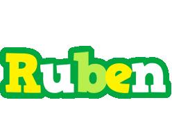 Ruben soccer logo