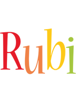 Rubi birthday logo
