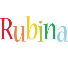 Rubina birthday logo