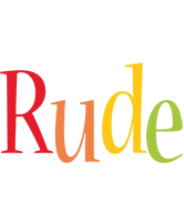 Rude birthday logo