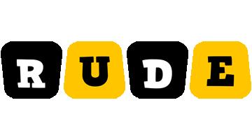 Rude boots logo