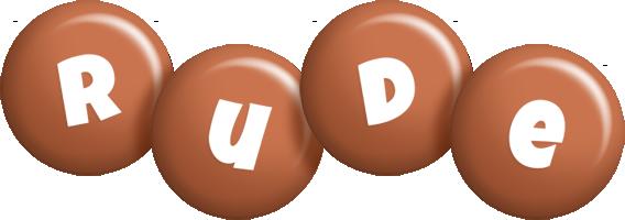 Rude candy-brown logo
