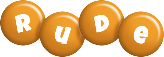 Rude candy-orange logo