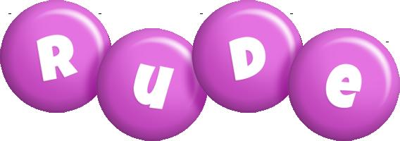 Rude candy-purple logo