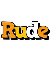 Rude cartoon logo