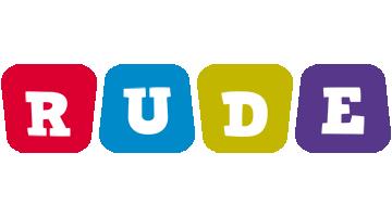 Rude daycare logo