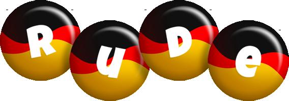 Rude german logo