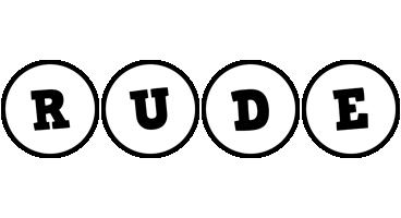 Rude handy logo