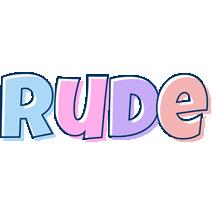 Rude pastel logo