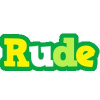 Rude soccer logo